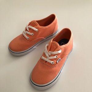 Vans Cantaloupe Authentic Kids Shoes Size 10